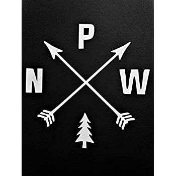 Amazon.com: Pacific Northwest PNW Hiking Vinyl Decal