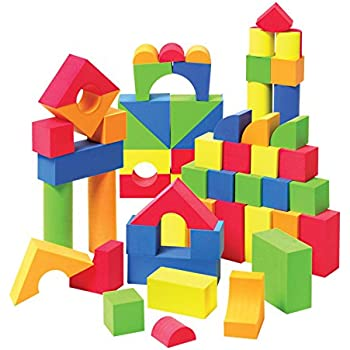 Non toxic 68 piece foam wonder blocks for for Foam block house construction