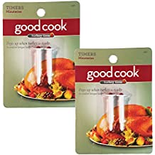 Good Cook Pop Up Timer for Turkey - Cooking Kitchen Tool Chicken Poultry Beef 4ps (2 Packs)