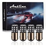 Antline 1157 2057 2357 7528 BAY15D LED Bulbs Brilliant Red, 12-24V Super Bright 800 Lumens Replacement for Tail Brake Lights, Turn Signal Lights, Parking Light (Pack of 4)