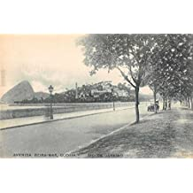 Rio de Janeiro Brazil Avenida Beira Mar Gloria Antique Postcard J55417
