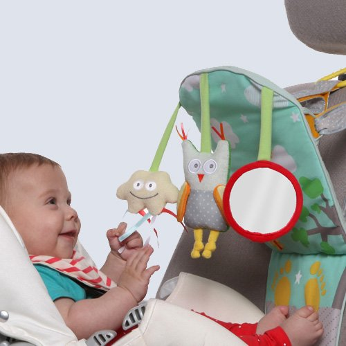 Taf Toys Play & Kick Car Seat Toy | Baby's Activity & Entertaining Center, For Easier Drive And Easier Parenting