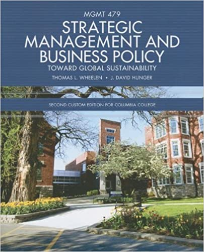 Book Strategic Management and Business Policy: Toward Global Sustainability by Thomas L. Wheelen (2012-01-01)