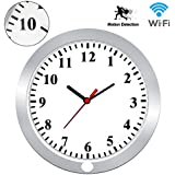 KAMRE HD 1080P WIFI Wall Clock Hidden Spy Camera Support IOS/Android/PC Remote Real-time Video and Motion Detection Alarm