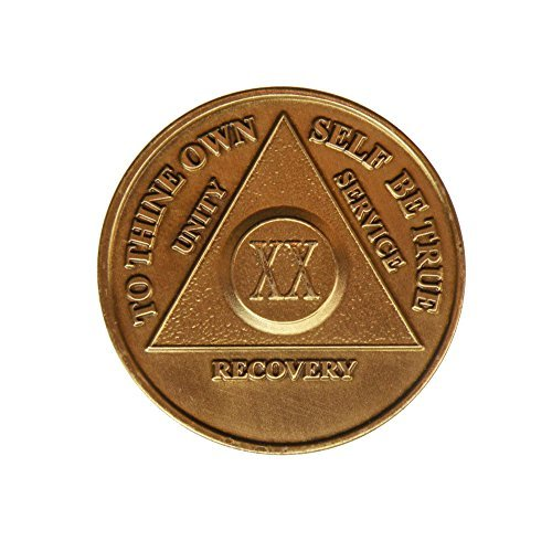 20 Year Bronze AA (Alcoholics Anonymous) - Sober / Sobriety / Birthday / Anniversary / Recovery / Medallion / Coin / Chip by Generic