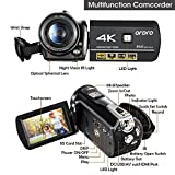 ORDRO Camcorder 4K 60fps Ultra HD 30X Zoom Digital Video Camera with Wifi Night Vision Wide Angle Lens