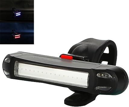 SSXY LED Luz Trasera de Bicicleta Modo Intermitente múltiple Anillo Suave Fijación Luz de Bicicleta Luces de Advertencia Equipo para Montar a Caballo por la Noche: Amazon.es: Deportes y aire libre