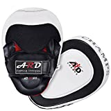 ARD GEL Punch Mitts Cowhide Leather Boxing Punching MMA Training Kickboxing, Striking, Muay Thai Focus Pad