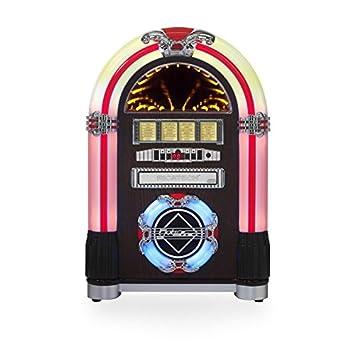 Ricatech Table Top LED Jukebox - Dark Cherry