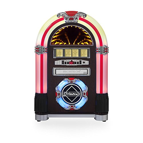 4 opinioni per Tavolo jukebox con radio AM/FM, lettore CD, USB/SD Card Reader, MP3playback &