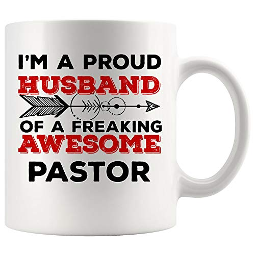 Spouse Husband Wife Pastor Mug Coffee Cup Tea MugsLove Valentine Couple Marry | Youth Jesus Appreciation Priest Gifts Funny World Future Minister Christian church congregation