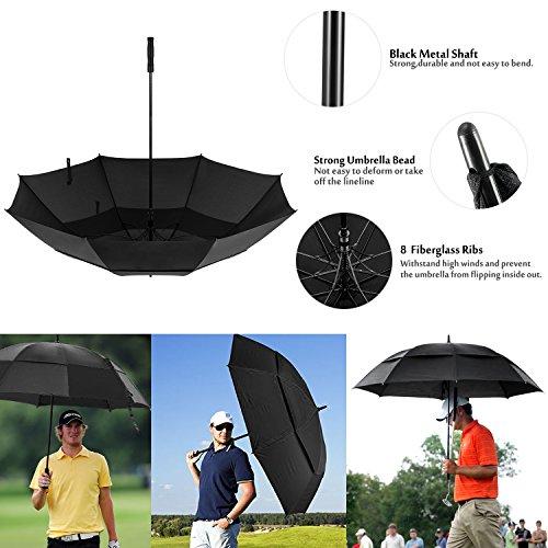 Oak Leaf 68 Inch Large Golf Umbrella Windproof Lightweight Sun Rain Umbrella by Oak Leaf (Image #6)