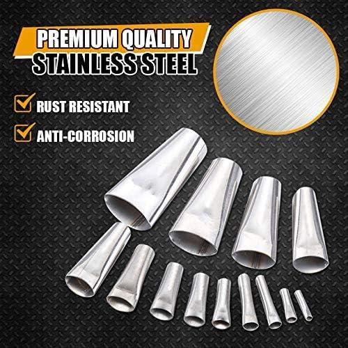 Perfect Caulking Finisher 14Pcs Caulk Nozzle Applicator Stainless Steel Sealant Finishing Tool Kit for Kitchen Bathroom Window,Sink Joint