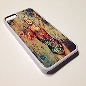 White iPhone 6 plus (5.5) Case - Hipster Marilyn Monroe