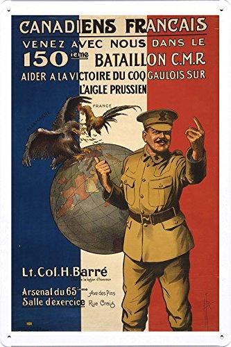 world-war-i-one-tin-sign-metal-poster-reproduction-of-canadiens-francais-venez-avec-nous-dans-le-150
