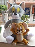Tom and Jerry Plush Tom 11'' & Jerry 5.5'' Doll Stuffed Animals Figure Soft Anime Collection Toy