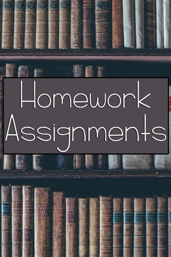 Homework Assignment Notebook 6 X 9 Paperback Book pdf epub