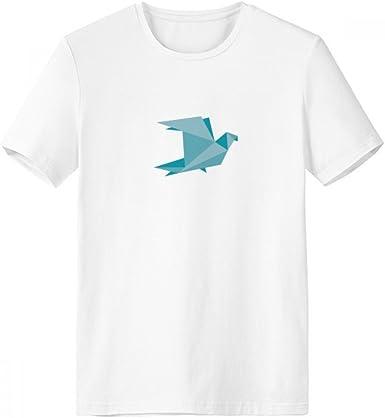 DIYthinker Modelo verde de Origami Resumen de la paloma blanca con cuello redondo de la camiseta de manga corta Comfort Deportes camisetas de regalos - Multi - Grande: Amazon.es: Ropa y accesorios
