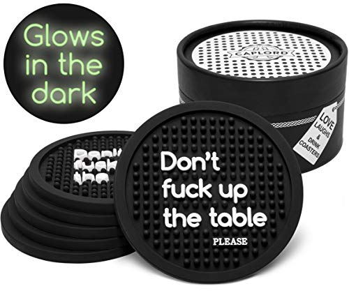 Coasters for Drinks, Glow in the Dark, Noise