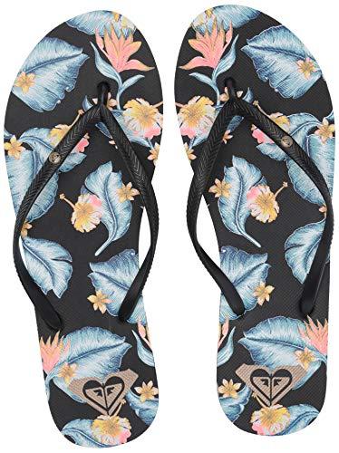 Roxy Women's Bermuda Sandal Flip Flop, Black, 9