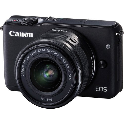 Canon-EOS-M10-Mirrorless-Digital-Camera-with-15-45mm-Lens-Black-International-Version-No-Warranty