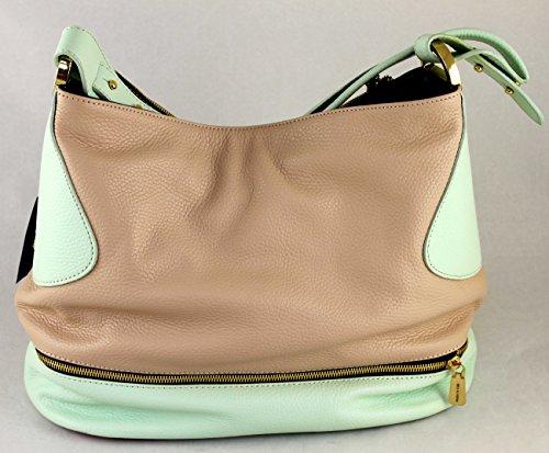 Gilda Tonelli Tasche Henkeltasche Shopper Hobo Bag Leder 7196 Puder-Mint