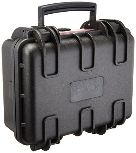 AmazonBasics Small Hard Camera Carrying Case - 12 x 11 x 6 Inches, Black