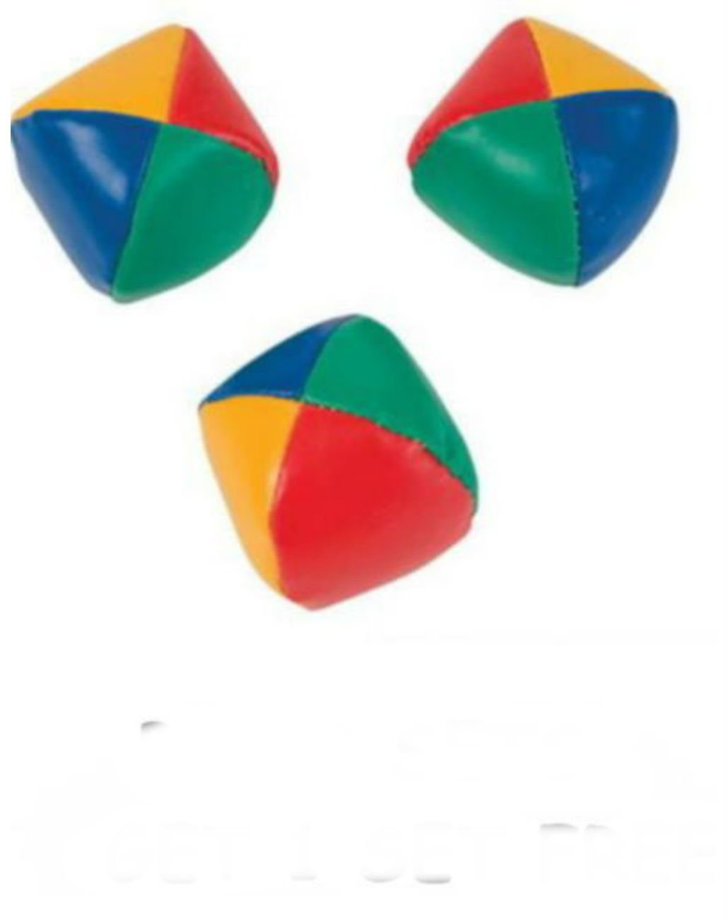 SET OF 3 LEARN TO JUGGLE BALLS JUGGLING BALL WITH INSTRUCTIONS 2.25'' by Unbranded (Image #1)