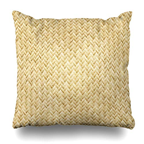 - Ahawoso Throw Pillow Cover Tan Straw Wicker Placemat See Also in My Cross Portfolio Beige Pattern Weave Basket Woven Nature Home Decor Pillowcase Square Size 18
