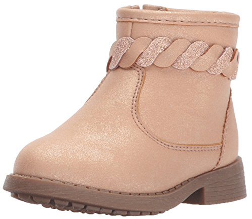 Price comparison product image Oshkosh B'Gosh Girls' Chains Braided Ankle Fashion Boot,  Pink,  7 M US Toddler