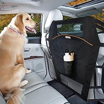 Kurgo Backseat Dog Car Barrier for Cars & SUVs – Mesh Opening – Easy Installation