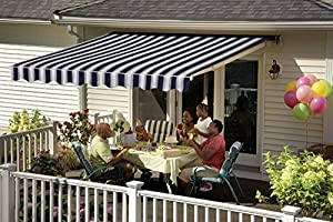Amazon.com : 14FT SunSetter VISTA Awning with Navy Fabric ...