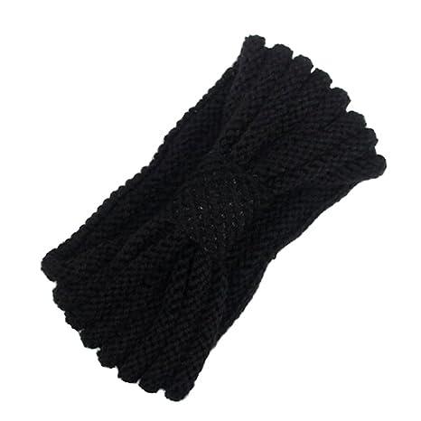 Tininna Moda Diadema Banda Cinta De Pelo Lana Crochet Tejido De - Diadema-ganchillo