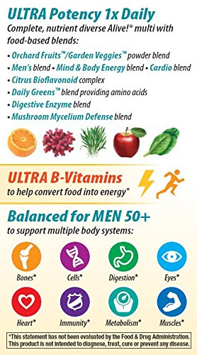 033674156919 - Nature's Way Alive Once Daily Men's 50+ Ultra Potency Tablets, 60 carousel main 5