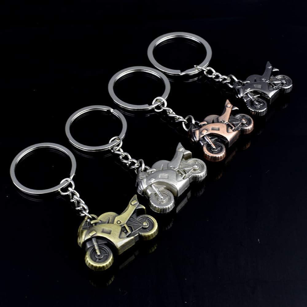 BOLLAER 3D Motorcycle Keychain Keyring Simulation Motorcycle Model Motorbike Keychain Keyring Keyfob Key Holder