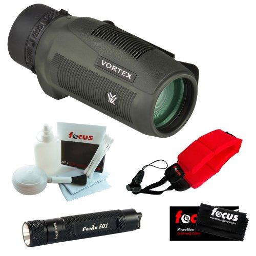 Vortex Optics S836 8x 36mm Monocular + Keychain LED Flashlight + Micro Fiber ... by Vortex Optics