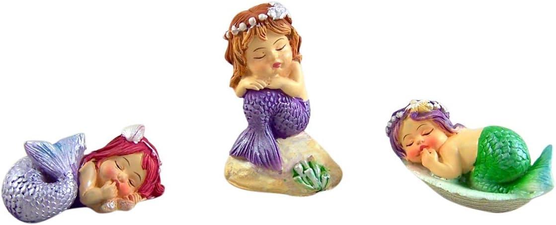 Mini Mermaid Figurines Set of 3