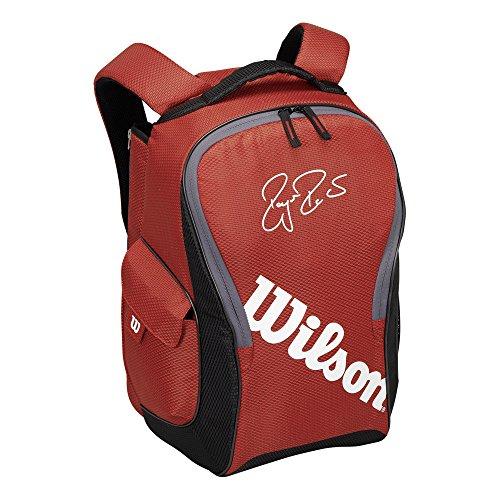 Wilson Rucksack Federer Team III Backpack, rot, 32.5 x 45.5 x 24.5 cm, 36 Liter, WRZ832695