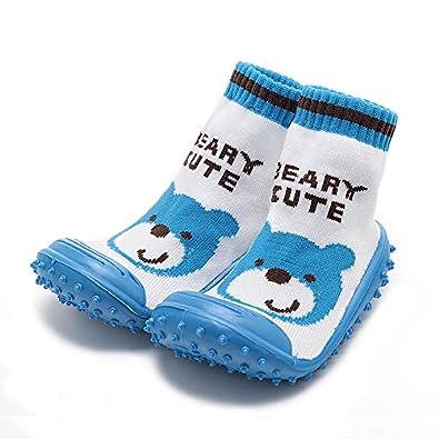 Amazon.com: iEndyCn Calcetines de bebé con suela de goma ...