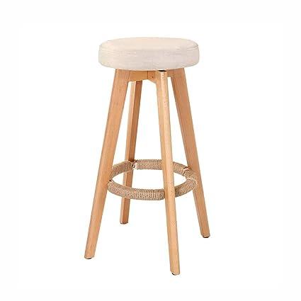 Amazon.com: JUANxiao Bar Stool, Wooden Bench, Swivel Seat ...