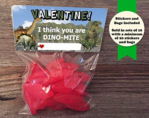 i-think-you-are-dino-mite-dinosaur-valentine-treat-bags-and-stickers-set-of-30