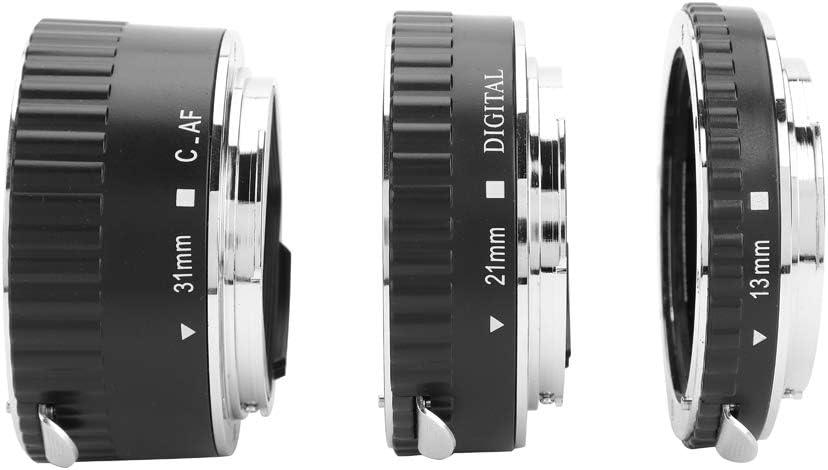 13mm 21mm 31mm Macro Autofocus Tripod Lens Mount Rings for Canon DSLR Camera EF EF-S Lens Macro Extension Tube Set Bewinner Lens Adapter Set Ring