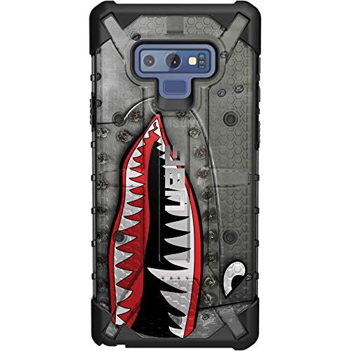 (Limited Edition Customized Prints by Ego Tactical Over a UAG-Urban Armor Gear Case for Samsung Galaxy Note 9 - P-40 TigerShark Jaws Teeth Warthog)