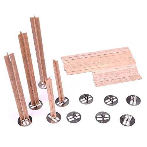 Loving Home Cross Wooden Candle Wicks, 20 PCS, 3.2 inch + 5.1 inch, Candle Wicks For Candle Making