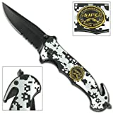 U.S. Marine Corp Sniper One Shot One Kill Spring Assisted Knife, Outdoor Stuffs