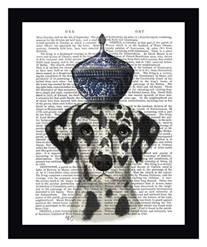Dalmatian with Blue Vase by Fab Funky - 16