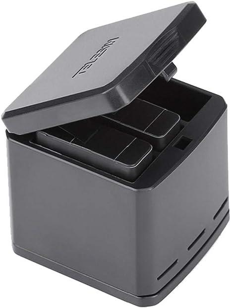 TELESIN Caja de almacenamiento de batería y cargador triple para GoPro Hero 6 GoPro Hero 5,3 Channel Caja de batería de baterías y organizador para Hero 6/5 Black Baterías: Amazon.es: Electrónica