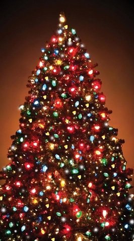 Christmas Tree Translucent Window Decorations Pkg/1