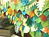 safari backdrop / leaves backdrop / paper leaves backdrop / Tropical leaves backdrop / Jungle party backdrop /Kids party/Dessert table