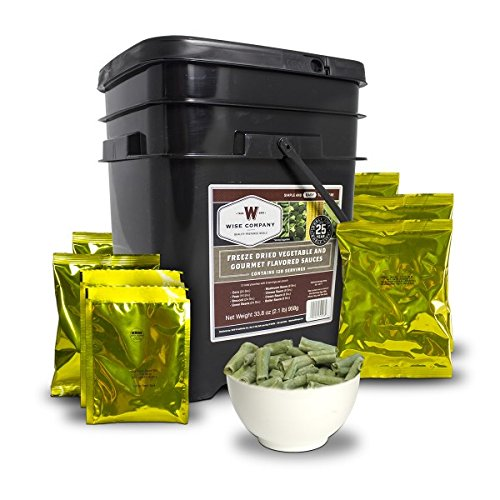 Wise Company Emergency Freeze Dried Vegetables - 120 Servings (Best Freeze Dried Food Company)